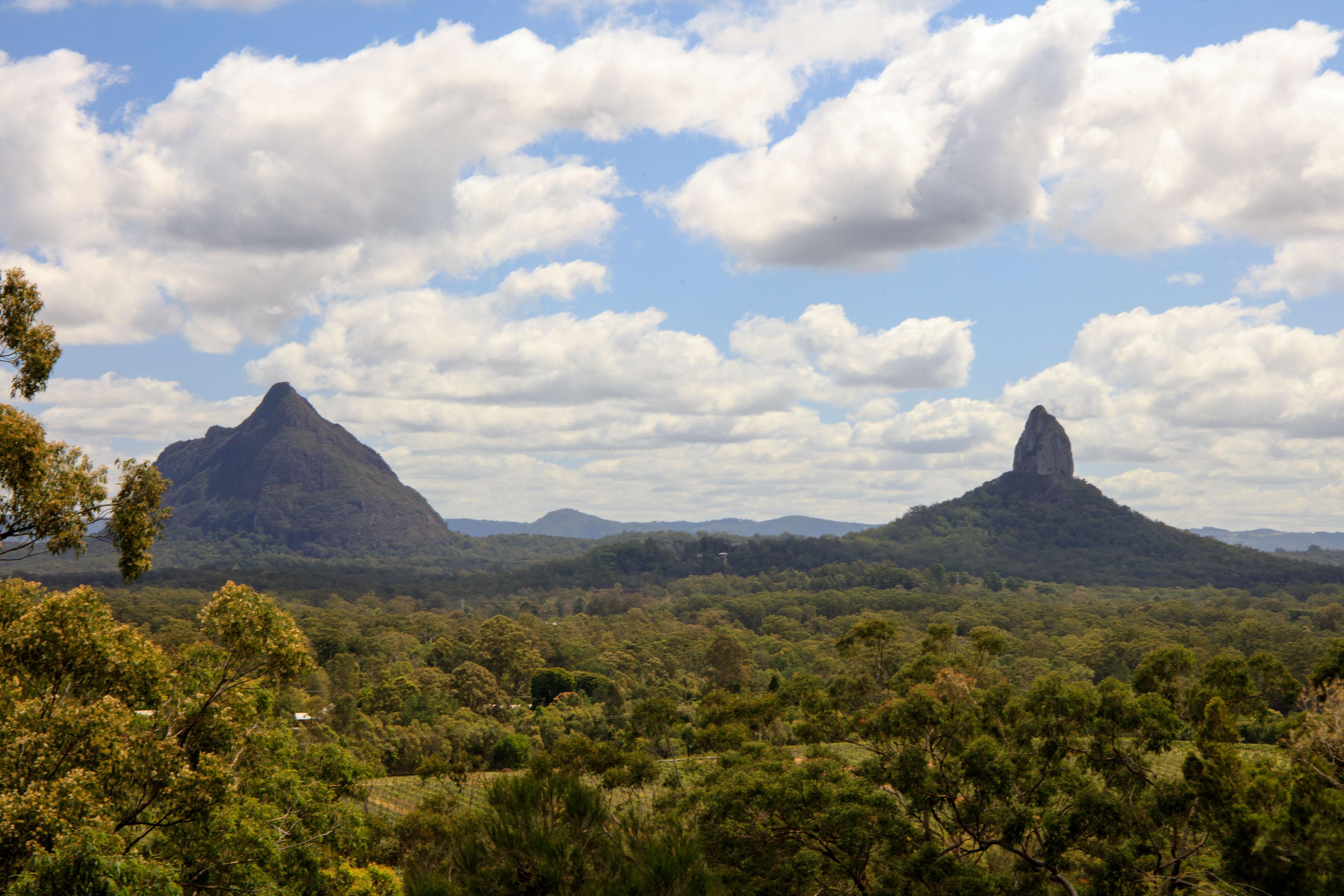 Around Australia: The Glass House Mountains – On the road ...